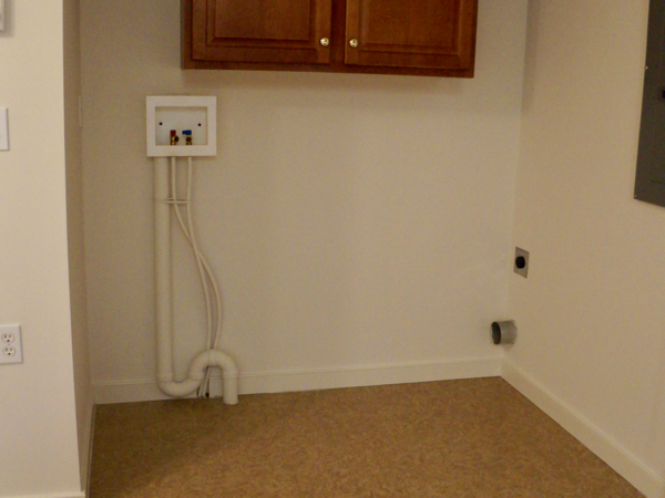 Stoney Creek two bedroom washer/dryer hook up, located in kitchen